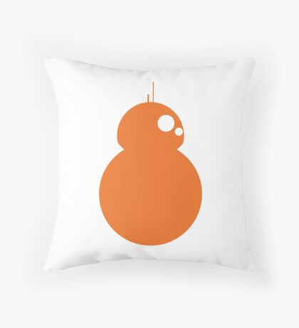 Simplistic BB-8 Throw Pillow