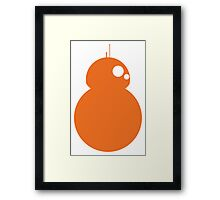 Simplistic BB-8 Framed Print
