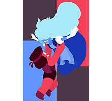 Ruby and Sapphire Photographic Print