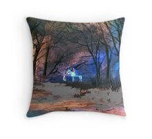 Dark Rider Throw Pillow