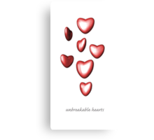 Unbreakable hearts Canvas Print