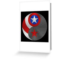 Winter Cap Ying Yang Greeting Card