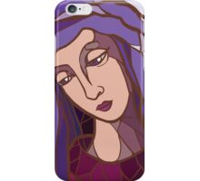 saint mary,mother of God,modern graphic picture, religious,christian,catholic iPhone Case/Skin