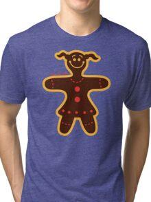 Christmas Cookie Woman Tri-blend T-Shirt