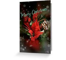 Merry Christmas Card (poinsetta) Greeting Card