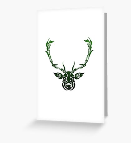 Shapes and Swirls Deer Head Greeting Card