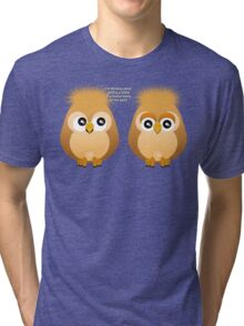 OWL TATTOO Tri-blend T-Shirt