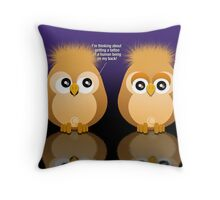 OWL TATTOO Throw Pillow