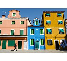 Three colour houses Photographic Print