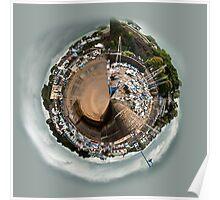 Planet Saundersfoot Harbour Pembrokeshire Poster