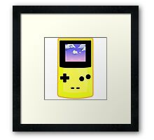Yellow Gameboy Framed Print