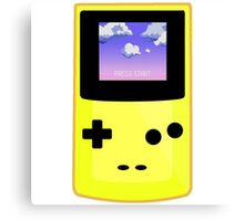 Yellow Gameboy Canvas Print
