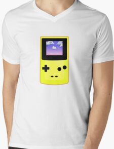 Yellow Gameboy Mens V-Neck T-Shirt