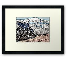 Pikes Peak Christmas Framed Print