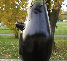 Mr. Eggplant Head  by Rie Kaminsky