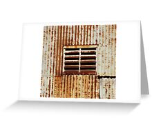 Rusty corrugated wall, Ivanhoe Greeting Card