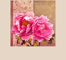 Sunlit magenta pink peony flowers, floral art Unisex T-Shirt