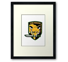 FOXHOUND Logo - Metal Gear Solid Framed Print