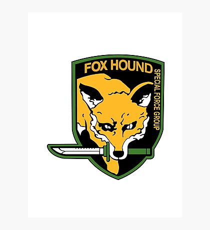 FOXHOUND Logo - Metal Gear Solid Photographic Print