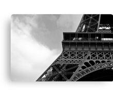 Eiffel Mono Canvas Print