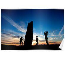 Summer Solstice at Long Meg Stone Circle  Poster