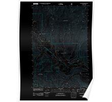 USGS Topo Map Washington State WA Peshastin 20110601 TM Inverted Poster