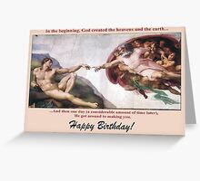 Michelangelo's The Creation of Adam Greeting Card