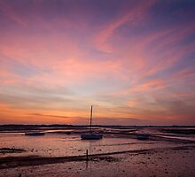 Ravenglass Yachts at Sunset ~ November 2011 by Jan Fialkowski