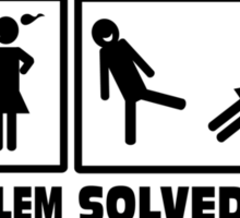 Problem Solved Sticker