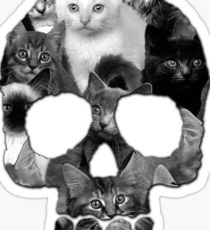 Skully Cat Sticker