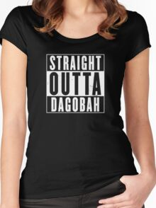 Straight Outta Dagobah Women's Fitted Scoop T-Shirt