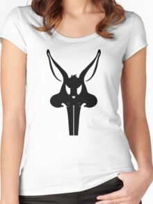 The Bunnisher - Black Women's Fitted Scoop T-Shirt