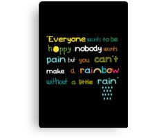 Rainbow and rain Canvas Print