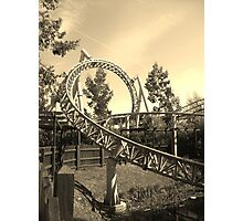 Thorpe Park Rollercoaster Photographic Print