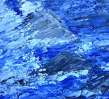 Stormy water/ palette knife by maggie326