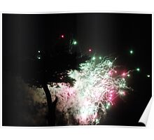 Fireworks night at Cassiobury park, Watford, England. Poster