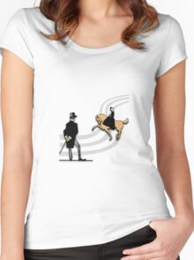 Top Hat and Tails Women's Fitted Scoop T-Shirt