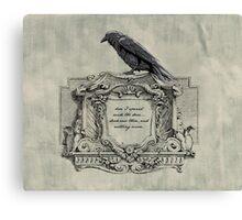Edgar Allan Poe and Raven Canvas Print