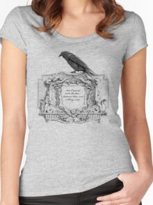 Edgar Allan Poe and Raven Women's Fitted Scoop T-Shirt