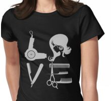 Love and Hair Womens Fitted T-Shirt
