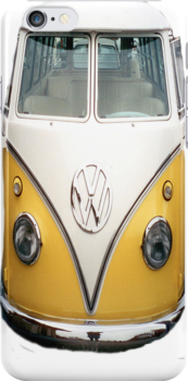 vw bus 2 iPhone case by andytechie