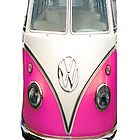 vw pink iPhone case by andytechie