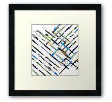 Crazy Brushes Framed Print