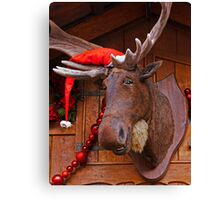 Christmas Moose Canvas Print