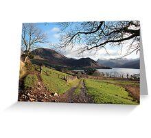 Enerdale Lake in Autumn  Greeting Card