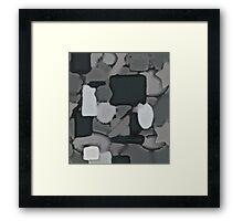 Grey Coulage Framed Print