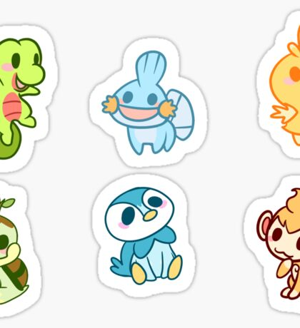 Pokestickers- GEN 3/4 Sticker