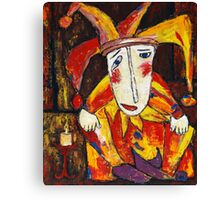 """""""Lonely clown""""  Canvas Print"""