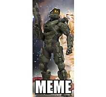 Master Chief Meme shirt Photographic Print