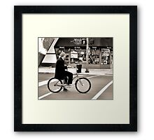 Crosswalk, Candy, Contemplation Framed Print